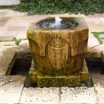 Montecito backyard water fountain