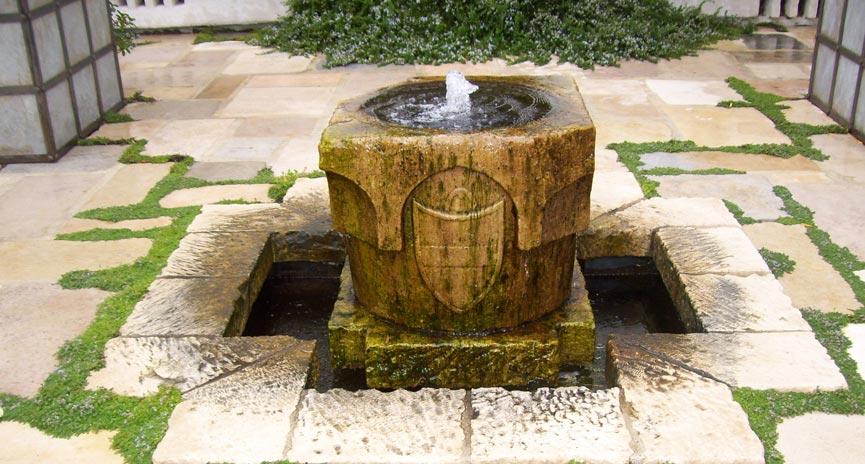 Montecito backyard water fountain