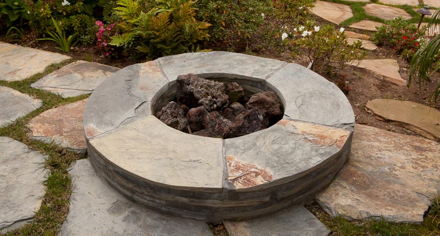 Santa Barbara backyard Firepit