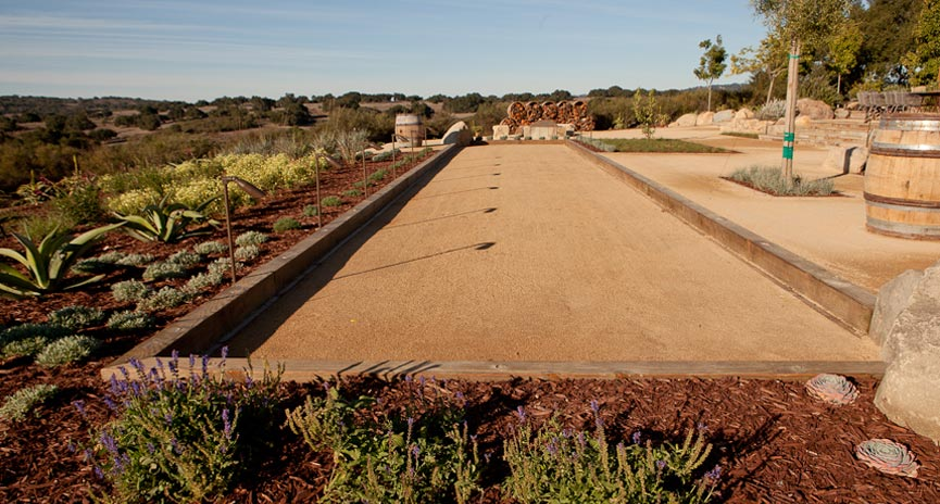 Santa Barbara Bocce court