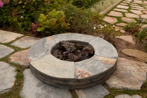 Santa Barbara custom backyard firepit