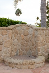 Santa Barbara outdoor fireplace