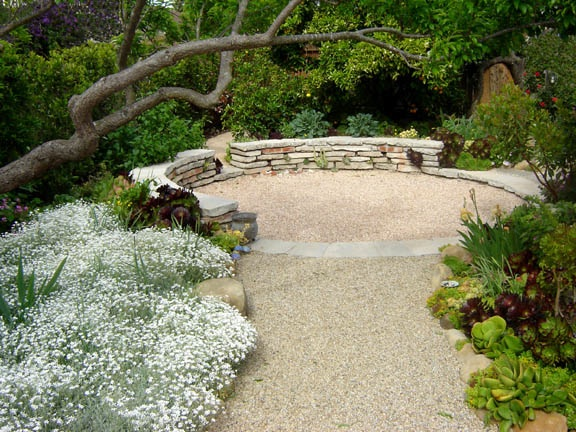 Secret garden design and installation in santa barbara for Garden sit out designs