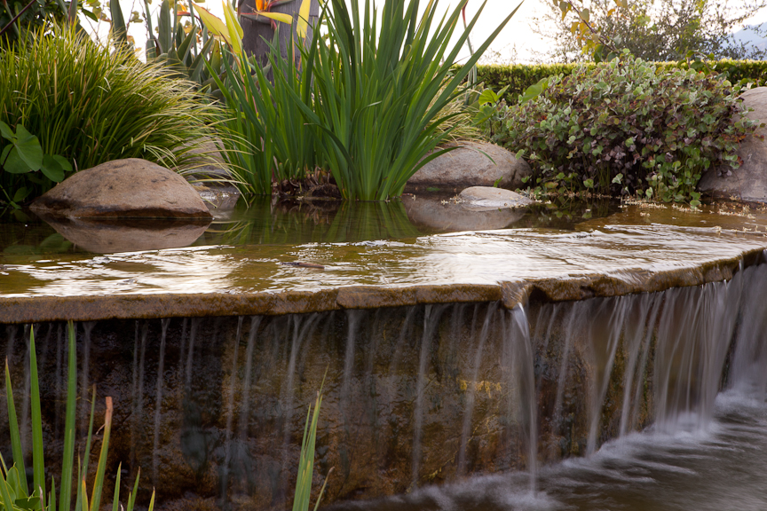Water feature ideas for santa barbara landscapes for Making a garden pond and waterfall
