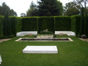 Secret garden and water feature